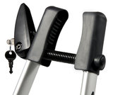 Fietsendrager zwart aluminium tbv dakmontage Acuda voor 1 fiets_