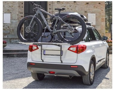 Fietsendrager achterklep montage voor 2 fietsen - 30 kg draagvermogen